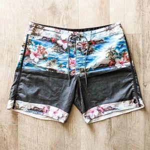 Billabong Platinum PX2 Tropical Gray Board Shorts
